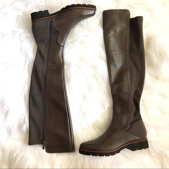 782134186cd  Franco Sarto  Leather Over the Knee Boots